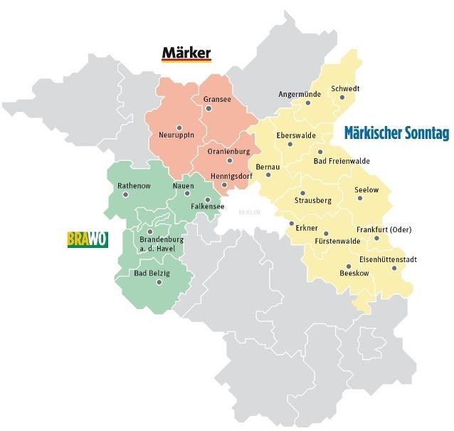 Karte Zustellungsgebiet Märkischer Sonntag
